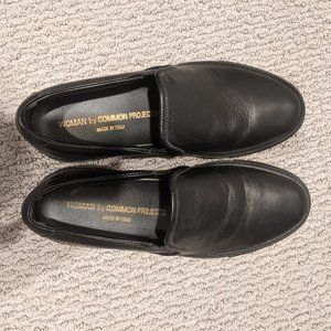 Common Projects black slip-on sneakers sz 6.5